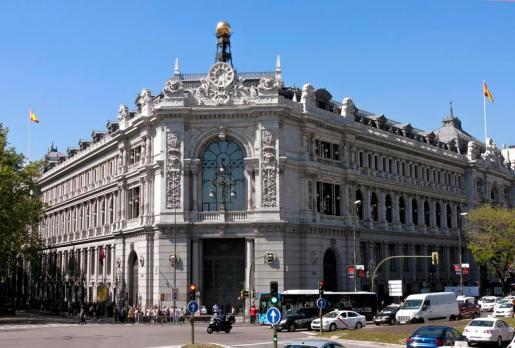 Fachada del Bando de España en Madrid.