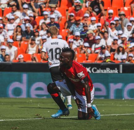 Lago Junior, en el partido de Liga disputado contra el Valencia en Mestalla.