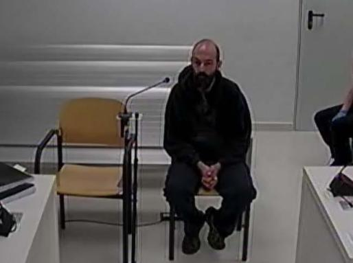 Uno de los CDR detenidos en la operación 'Judas' durante su declaración en la Audiencia Nacional.