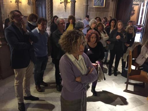 Protesta en el pleno del Consell de Mallorca.