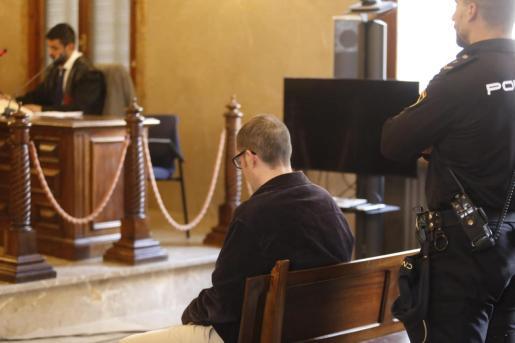 Un momento del juicio a Antonio Borrás este lunes en Palma.