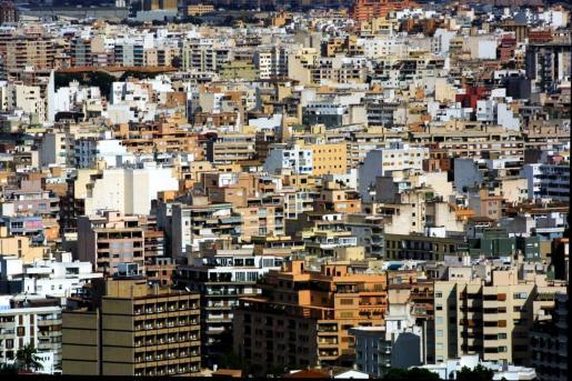 Vista general de Palma, donde hay problemas de vivienda.