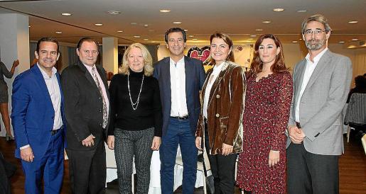 Toni Fuster, Toni Pujadas, Valentina Núñez, Gabriel Company, Margalida Durán, Noemí Getino y John Baiget.