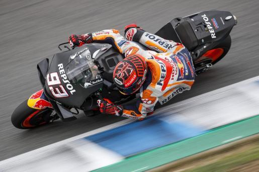 Marc Márquez (Repsol Honda), en acción durante los tests de Jerez.
