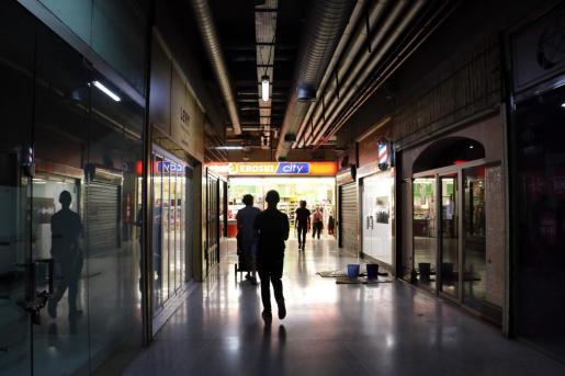 Imagen del supermercado Eroski de la plaza Mayor de Palma.