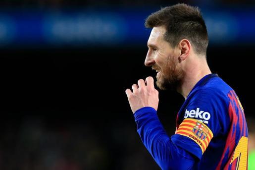Messi, en una imagen durante un partido.