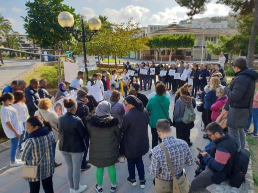 Imagen de la concentración en Sa Pineda, Santa Ponça.