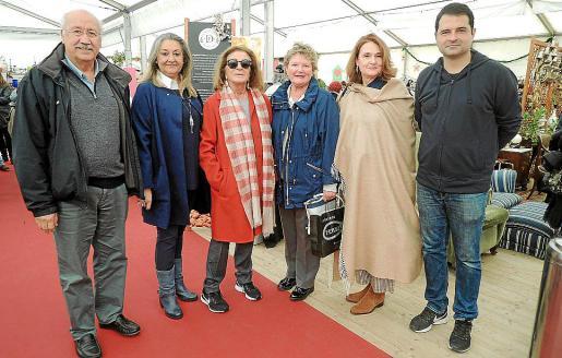 Fernando Villalobos, Magdalena Grúa, Marieta Salas, Margalida Vidal, Antonia Ferriol y Toni Cañellas