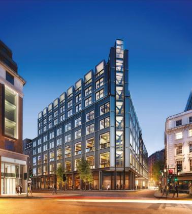 El edificio The Post Building, ubicado en Londres.