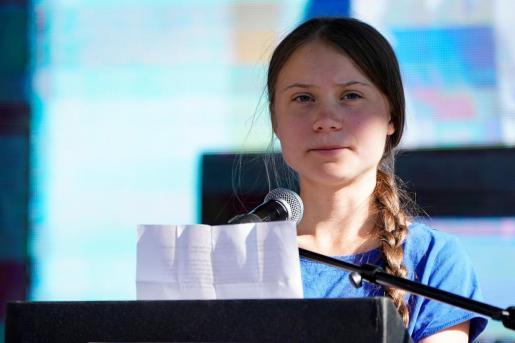 Greta Thunberg, en una imagen de archivo durante un acto en los Estados Unidos, poco antes de emprender el viaje de regreso a Europa para participar en la Cumbre del Clima de Madrid.