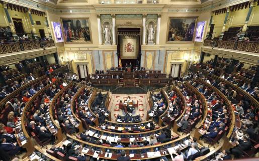 Vista general del Congreso de los Diputados, que se ha constituido este martes.