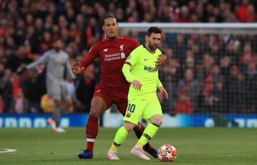Imagen de Messi durante un partido.