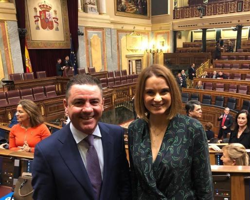 Los diputados del PP en el Congreso por Baleares, Margalida Prohens y Miguel Jerez.