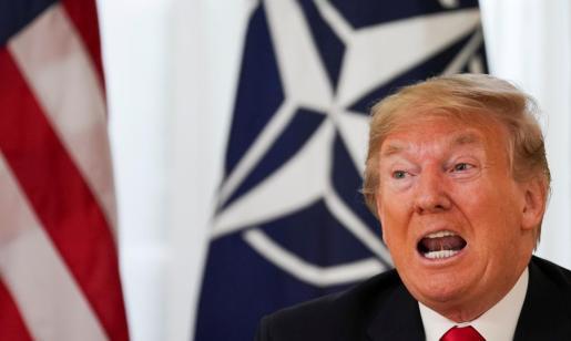 Donald Trump durante su visita a Londres para la cumbre de líderes de la OTAN.