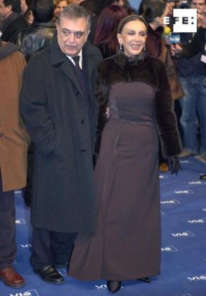 Javier Aguirre y Esperanza Roy, en una imagen del pasado.