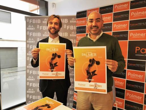 Vicenç Palmer y Juanjo Talens, durante la presentación del acuerdo entre Palmer Inmobiliaria y la FBIB.