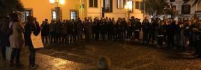 Concentración en apoyo a las víctimas de los abusos sexuales en Cala Rajada