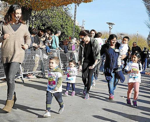 Imagen de la carrera de Reyes en el Parc de ses Estacions de Palma.