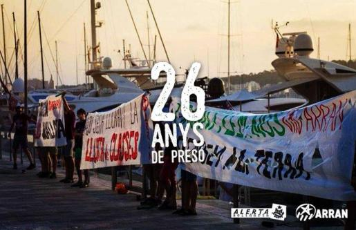 Cartel de Alerta Solidària con motivo de la petición de pena del ministerio público.