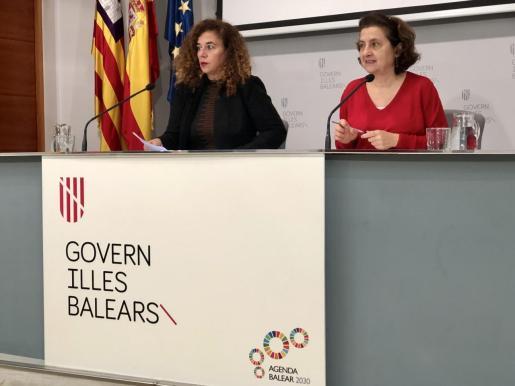 La portavoz del Govern, Pilar Costa, en rueda de prensa.