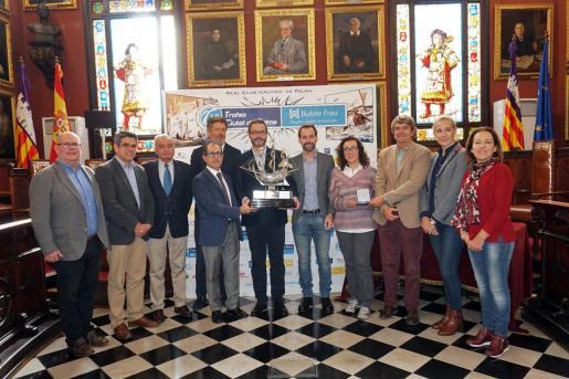 Imagen del acto de presentación del 69º Trofeu Ciutat de Palma-Bufete Frau de vela.