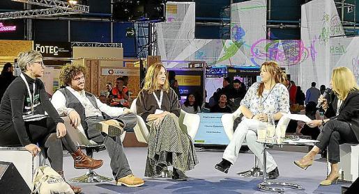 Solivellas (centro) participó en la Cumbre del Clima.