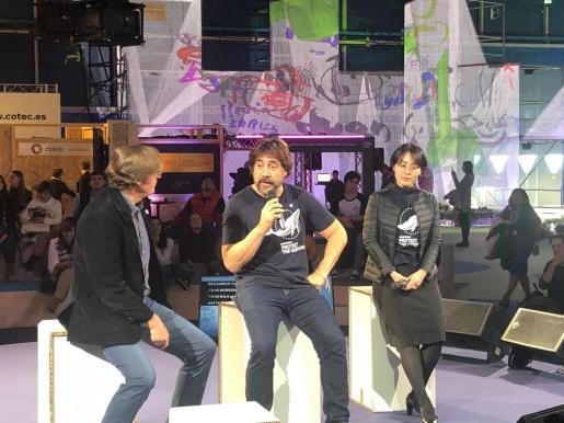Javier Bardem presentando un documental en la Cumbre del Clima.