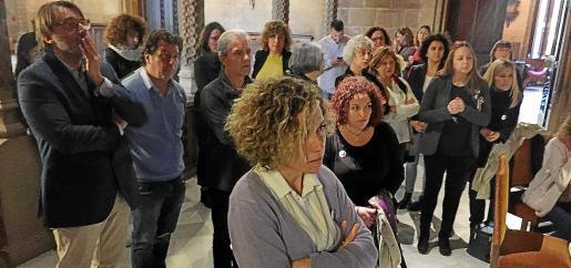 La antesala del salón de plenos el 25 de noviembre, cuando las conselleres del PSIB, Més y Unidas Podemos se ausentaron de la sesión durante las intervenciones del portavoz de Vox porque este partido rechazó sumarse al manifiesto contra la violencia machista.