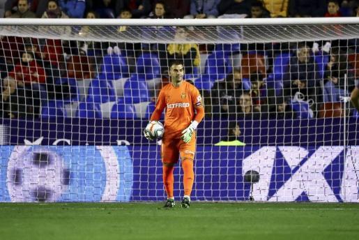 El portero del Real Mallorca, Manolo Reina, durante un partido de la actual temporada.