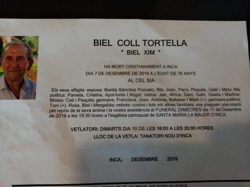 Biel Coll Tortella 'Xim'.