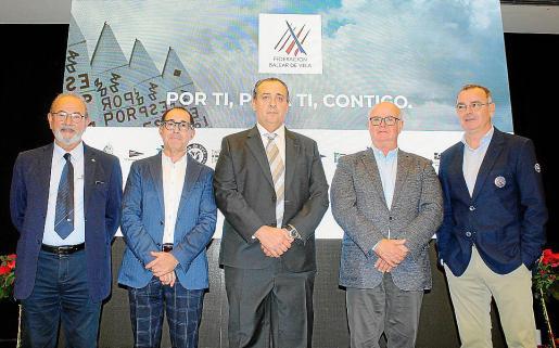 Antonio Hernández Pons, Emerico Fuster, Chimo González Devesa, Jesús Comas y Óscar Estellers.