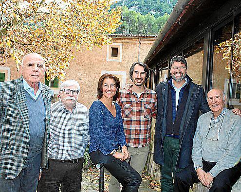 Pepe del Olmo, Pedro Calafat, Alicia y José Caldentey, Daniel Tur y Enrique Pancorbo.