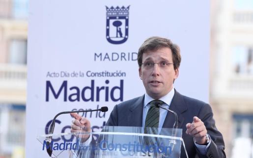 El alcalde de Madrid, José Luis Martínez-Almeida, interviene en un acto en Madrid.  SOCIEDAD   Eduardo Parra - Europa Press   alcalde madrid jose luis martinez almeida interviene acto homena
