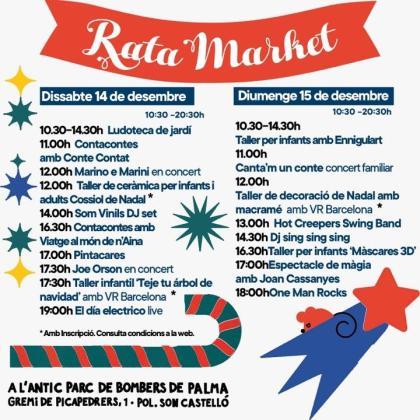 Programación del mercadillo de Navidad Rata Market 2019.