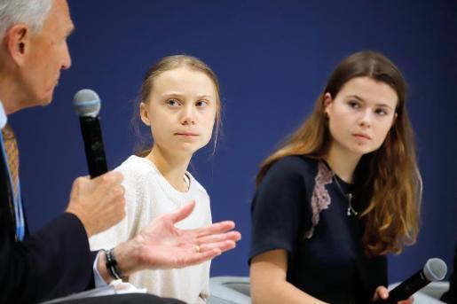 Greta Thunberg en la Cumbre Mundial del Clima (COP25) celebrada en Madrid.
