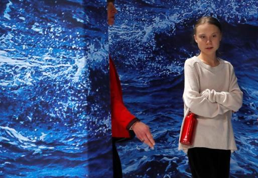 La joven activista medioambiental sueca Greta Thunberg.