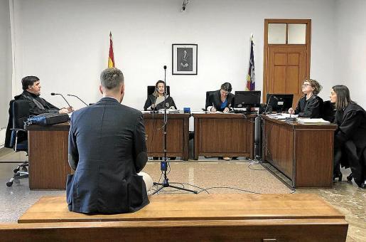 Miquel Àngel Garí, en el juicio en una sala del Juzgado de lo Penal 1.