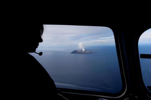 Vista del volcán desde una avioneta.