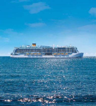 El nuevo buque insignia de Costa Cruceros, propulsado a gas GNL, visitará Palma cada semana en 2020.