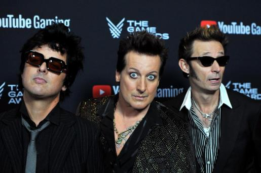 Greenday band y Billie Joe Armstrong, Tre Cool y Mike Dirnt.