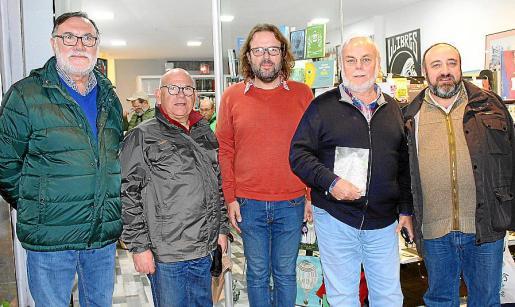 Pep Maria Coll, Pere Garí, Tomás Vibot, Justo Hernández y Gracià Sánchez.