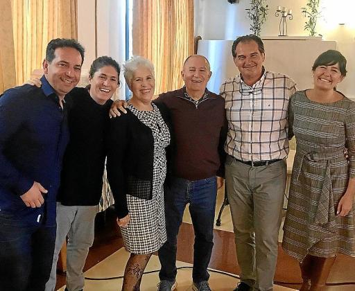 Dani de Castro, Maca de Castro, María Martín, Diego de Castro, Santiago Batle y Mónica Faciola.