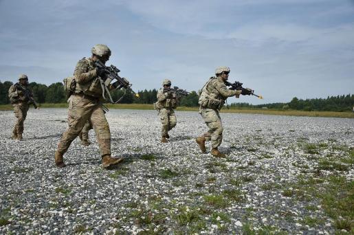 Imagen de unas maniobras del ejército.