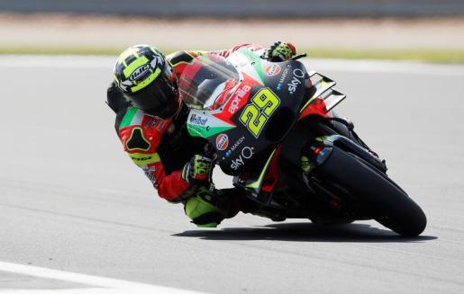 Andrea Iannone, durante el pasado Gran Premio de Gran Bretaña de MotoGP.