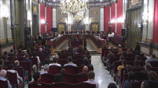 Imagen del juicio del 'procés'.
