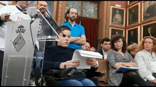 Oscar Kapcer ha intervenido en el pleno del Ajuntament de Palma.