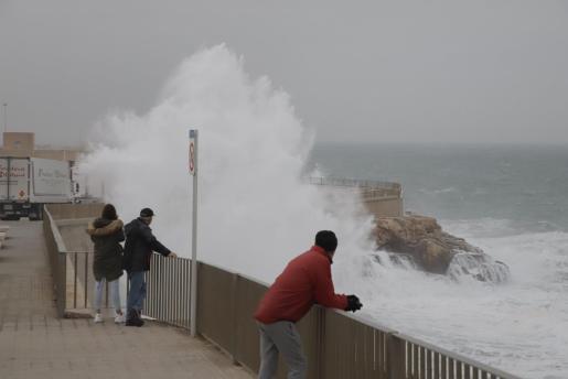 Imagen del temporal en Palma