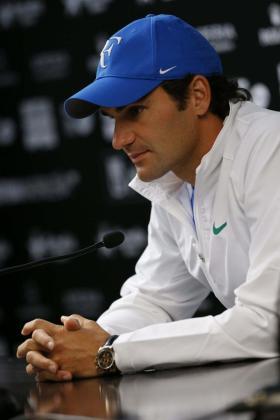 El tenista suizo Roger Federer durante una conferencia de prensa.