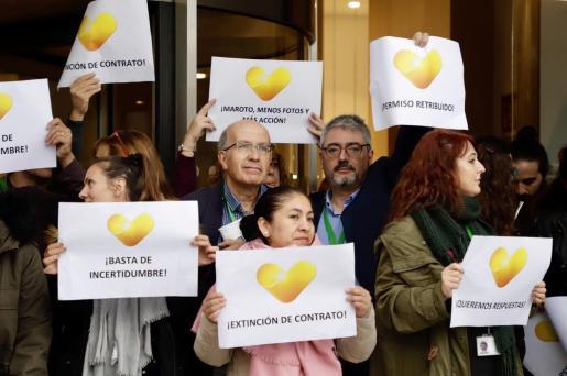 Imagen de una protesta de trabajadores de Thomas Cook celebrada el pasado mes de noviembre en Palma.