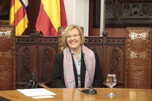 Rosa Planas durante el pregón.